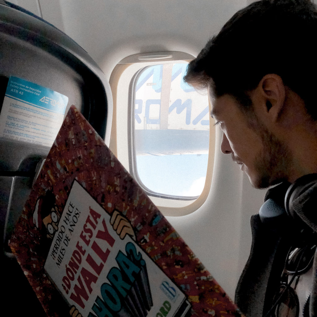 Finding Wally at the airplane